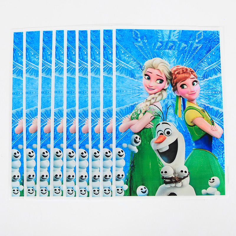 10pcs/set Disney Frozen Gift Bag Anna Party Supplies For Kids Happy Birthday Party Decoration Candy Bag