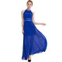 New Women Dress Ever-Pretty Strapless Long Ruffles Chiffon Gold Chain  Collar Formal Ladies Evening Elegant Dresses J19-17813B 11faf3d09289