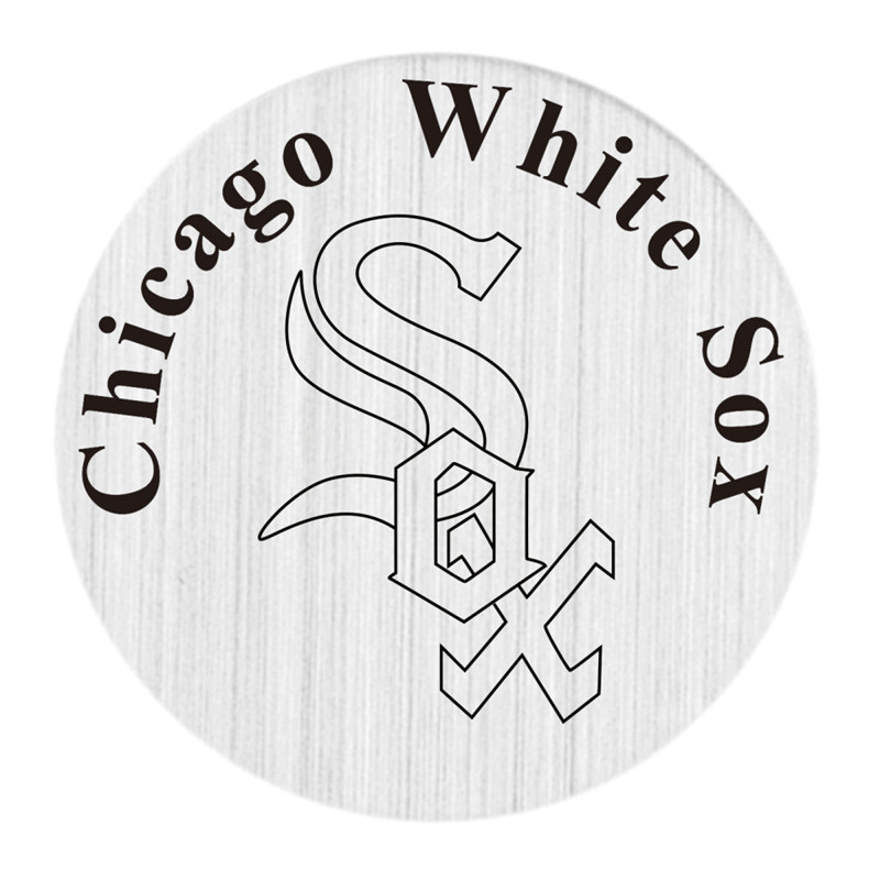 Chicago White Sox Floating Plates Stainless Steel MLB Window Plate Fit 30mm Charm Locket Pendants 5PCS