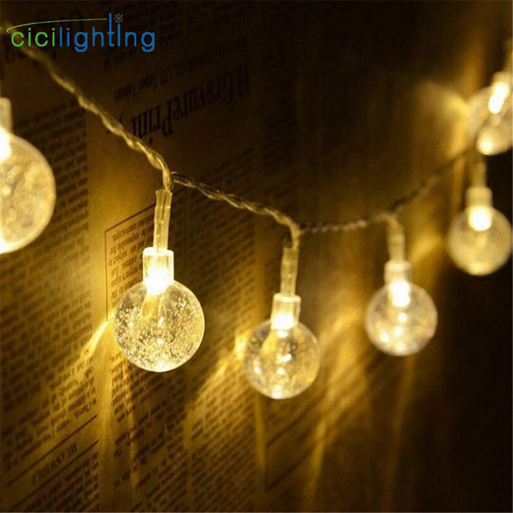 Globe Ball String Lights For Holiday 1.5/2/3/4m 10/20/30/40 Lights Vintage Bulbs Decorative Outdoor Garland Wedding Party Lamp
