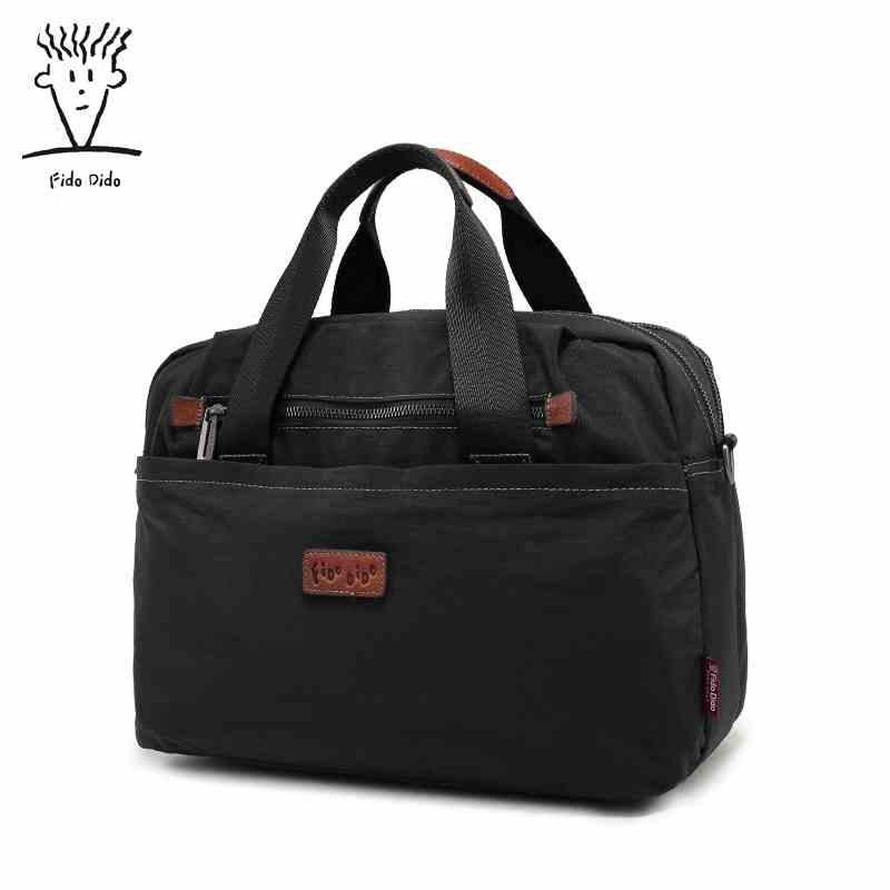 Fido Dido Unisex Waterproof Laptop Bag Men Casual Briefcase Business Shoulder Bag Nylon Messenger Computer Notebook Bag !! fido