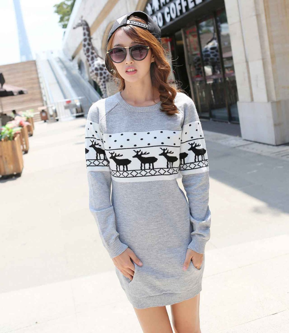 2015 Winter Women Sweaters And Pullovers Long Sleeve Oversized ...