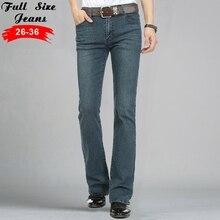 Slim fit designer jeans männer 2016 streetwear flare jeans berühmte marke Boot Cut Gental mann BootCut Männlichen Klassischen Denim Jeans 35 36