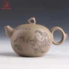 Chinese Theeceremonie Set Authentieke Yixing Theepotten Brouwen Longjing Thee Handgemaakte Zisha Ketel Thee Pot DuanNi(China)