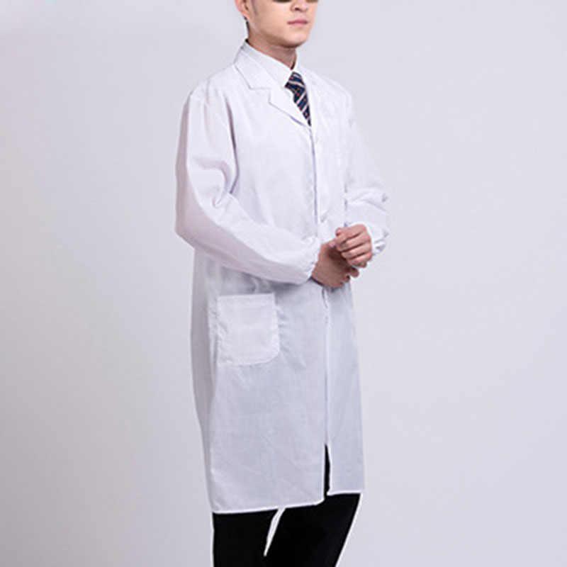 לבן חלוק מעבדה רופא חולים מדען בית ספר תחפושת תלבושות לסטודנטים מבוגרים TY66