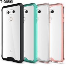 E For LG G6 Case Crystal Hybrid Bumper Clear TPU PC Acrylic Back Cover for Capas LG G6 G 6 Case Phone Cases For LGG6 Funda