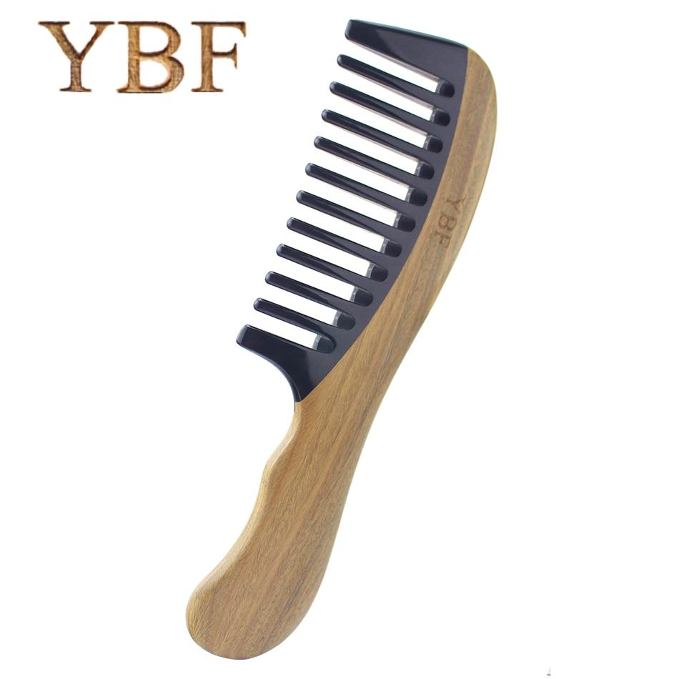 YBF Démêlant Maquillage Cheveux De Coiffure Outil Ox Corne de bois de santal Vert En Bois