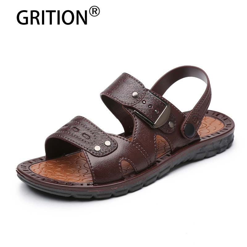 GRITION Fashion Summer Men Outdoor Sandals Summer Cool Shoes Men Flip Flops Male Slippers Zapatos Hombre Casual Shoes
