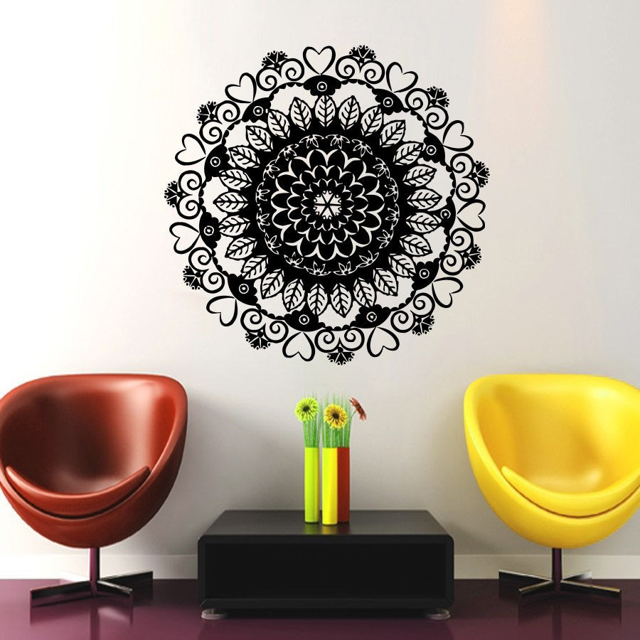 In Sale Vinyl Wall Art Decals Namaste Om Mandala Ornament Moroccan Pattern Yoga Wall Stickers For Indian Living Room Kitchen-in Wall Stickers from Home ... & In Sale Vinyl Wall Art Decals Namaste Om Mandala Ornament Moroccan ...