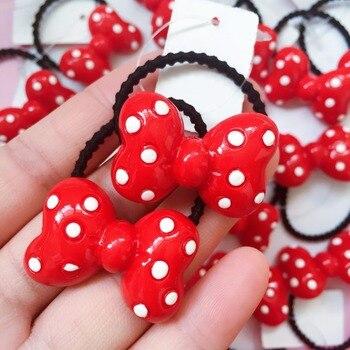 Nueva moda linda chica cintas elásticas para el cabello ornamentos de pelo niños colorido conejo ronda de dibujos animados de Bola de Pelo banda cuerda de pelo