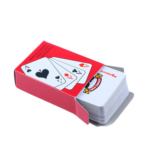 1Set Hot Portable Playing Cards Set For Travel Gambling Tool Foil Plated Mini Poker Traditional Set Casino Tool Board Game(China)