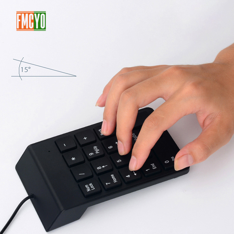 Image 5 - USB Cable Numeric Keypad Bank Financial Accounting Payment Portable 18 key Password Numeric Keypad-in Keyboards from Computer & Office