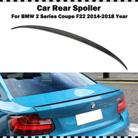 For BMW 2 series coupe 220i 225i M235i M240i M style carbon fiber rear trunk spoiler 2014 2018 M2 styling CF rear spoiler wing