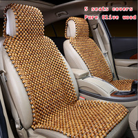 Pure Olive wood wooden bead car seat cushion covers,5 seats / set summer car seat breathable massage cushions for general cars