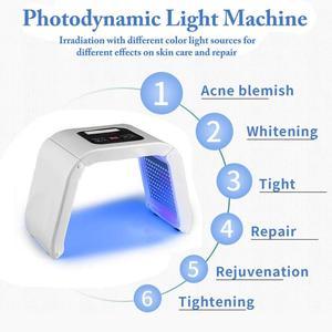Image 2 - 7 цветов светодиодный портативный Фотон для лица, омоложение кожи, омоложение, лечение, тонизирование кожи, уход за кожей лица, устройство для масок