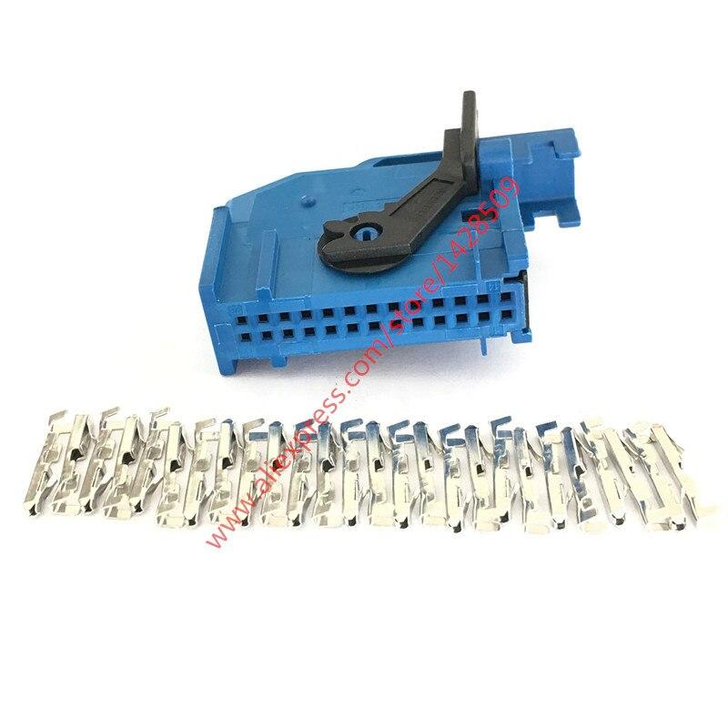 1 Sets 26 Pin 185879-2 Automobile Instrument Plug Automotive Female Conenctor ECU For VW