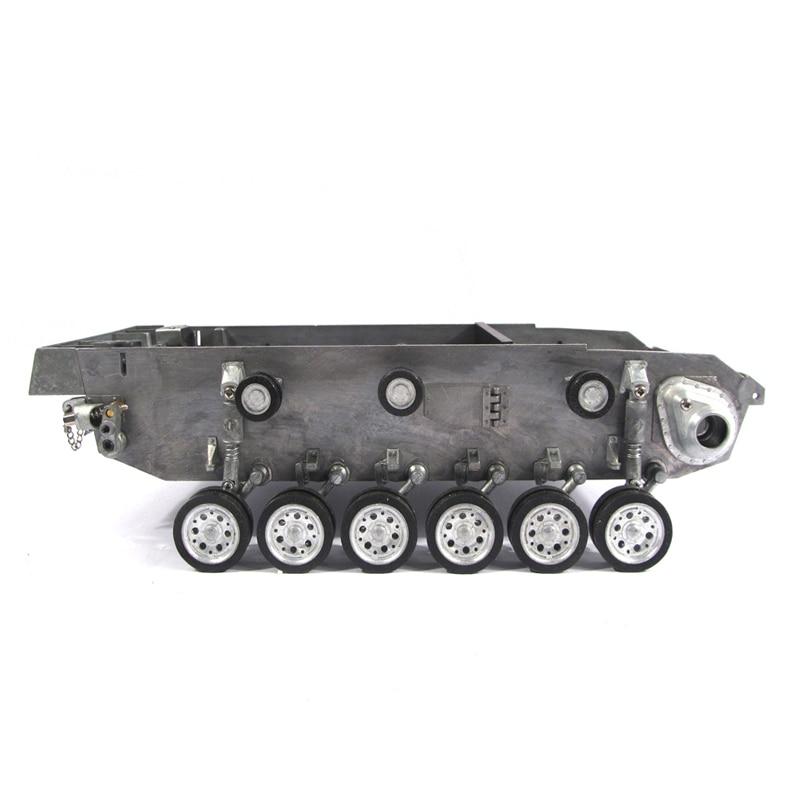 Mato металлический робот танк шасси комплект с торсионной подвеской и колесами для 1:16 rc Panzer III Stug III танк