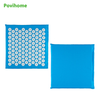 Size 32 35cm Cotton ABS Spike Acupressure Mat Massage Cushion Shakti Mat Yoga Relieve Pain