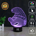 HUI YUAN Brand USB 3D Lamp Visual illusion Novelty Night Light Tooth Holiday Lights Glowing Christmas Presents