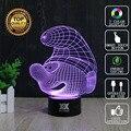 HUI YUAN Marca USB 3D Lámpara ilusión Visual Light Noche de La Novedad Diente de Vacaciones Luces Brillantes Regalos De Navidad