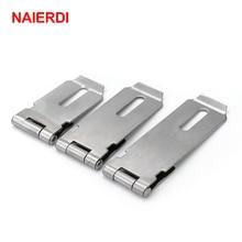 NAIERDI-J7 Cabinet Box Hasp Lock Stainless Steel Case Spring Latch Catch Toggle Locks For Drawer Gate Door Furniture Hardware