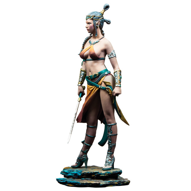 Unpainted 1//24 Dark Elf Resin Figure Beauty Girl Model Kit Unassembled GK