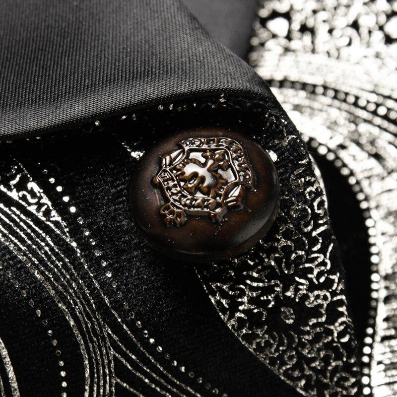 Chaqueta de manga larga clásica para hombre de talla grande 5XL, chaqueta de moda para negocios, boda, banquete, chaqueta estampada para hombre KTV - 4