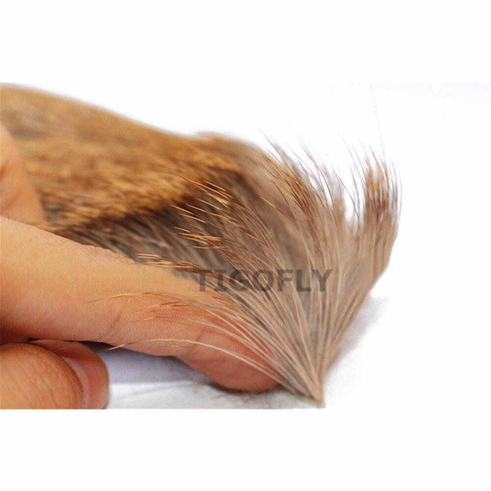 Tigofly 2 vnt / partija Elk kūno plaukai ilgas storas kailis 6cmX6cm - Žvejyba - Nuotrauka 4