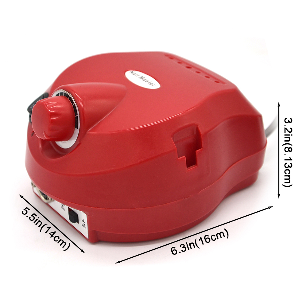 Image 3 - 110/220V 35000 RPM Pro Electric Nail tool Bit Manicure Machine Kit Pro Salon Home Nail Tools Set Red Nail Drill-in Electric Manicure Drills from Beauty & Health