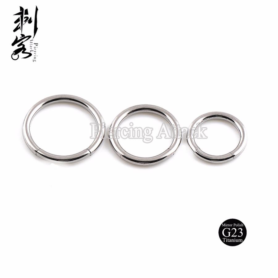 G23 Titanium Body Jewelry Highly Polished 14 Gauge Titanium Segment ...