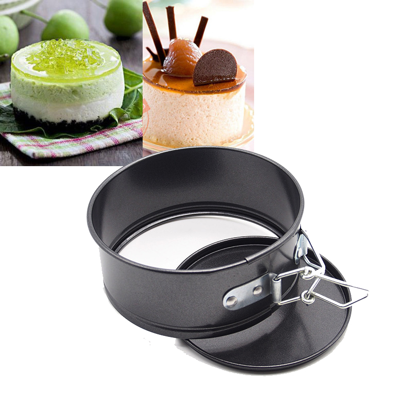 Mini Cheesecake Quiche Springform Pan Cake Mold Baking Tools Non stick Baking Mold Live Buckle For