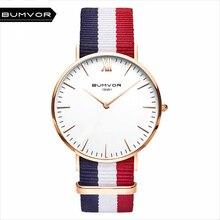 BUMVOR Watches Women Fashion Watch 2017 Unisex Watches Rose Gold Silver Lady Clock Men Relogio Masculino Horloge Orologi Donna