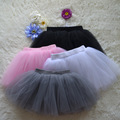 2016 summer lovely fluffy soft tulle girls tutu skirt pettiskirt 4 colors girls skirts for 1-8Y kids 4 layers mesh clothes