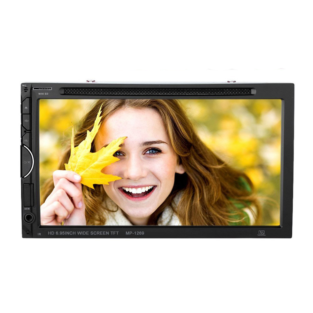 7 дюймов Универсальный 2 Din автомобильный DVD/USB/SD плеер HD мультимедиа Bluetooth Радио развлечения