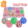 Minitudou Gift Toys Colorful Hama Beads DIY Pretty Set Educational 3D Puzzle Toy Children Fashion For Girls