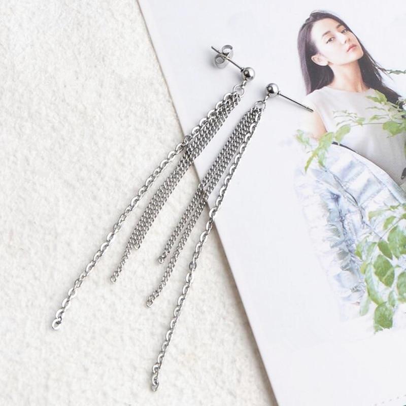 1pair KPOP Bangtan Boys Album BTS JIMIN 3 chains Stud Earrings Korean Fashion Jewelry Accessories For Mens And Womens Earring