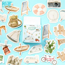 46 Stks/doos Toerisme Washi Tape Decoratief Papier Japanse Briefpapier Kawaii Scrapbooking Benodigdheden Stickers Office Plakband(China)