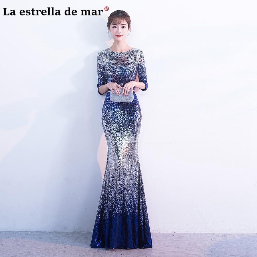 Großhandel bridesmaid dresses blue gradient Gallery - Billig kaufen ...