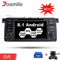 Quad Core Android 8.1 Car DVD GPS Radio Player For BMW/E46/M3/Rover/3 Series IPS 2G ROM 32G ROM Wifi FM DAB OBD Multimedia Stere