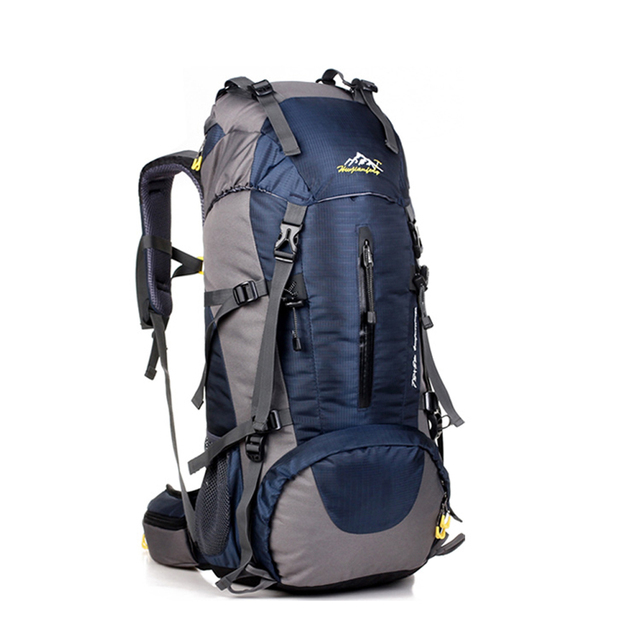 Dark blue Waterproof Nylon Rucksack Backpack for Outdoor Camping Climbing
