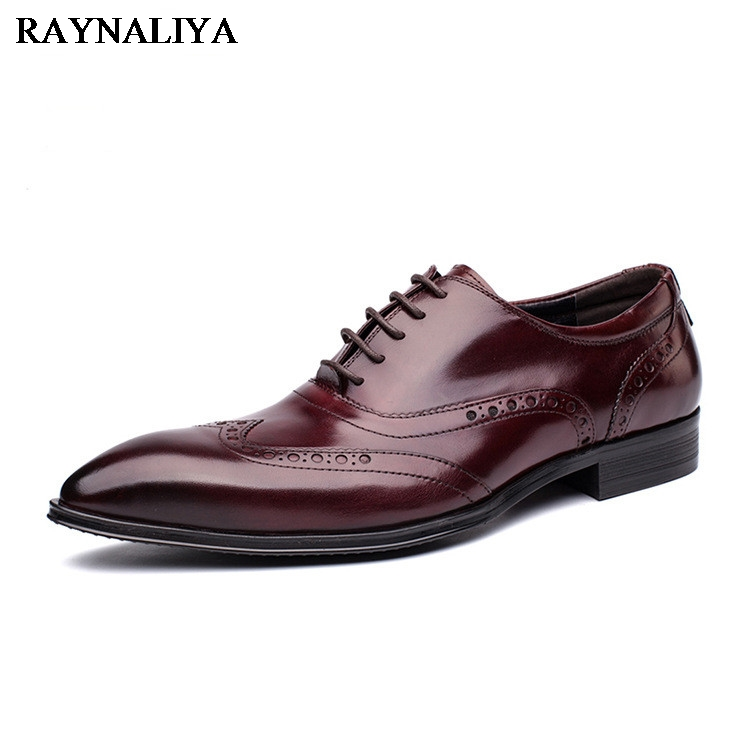 Top Quality Men Dress Shoes Fashion Lace-up Wedding Black Shoes Mens Pointed Toe Formal Office Shoes Big Size YJ-A0004 new 2018 fashion men dress shoes genuine leather pointed toe male wedding shoes autumn men office formal shoes yj a0029