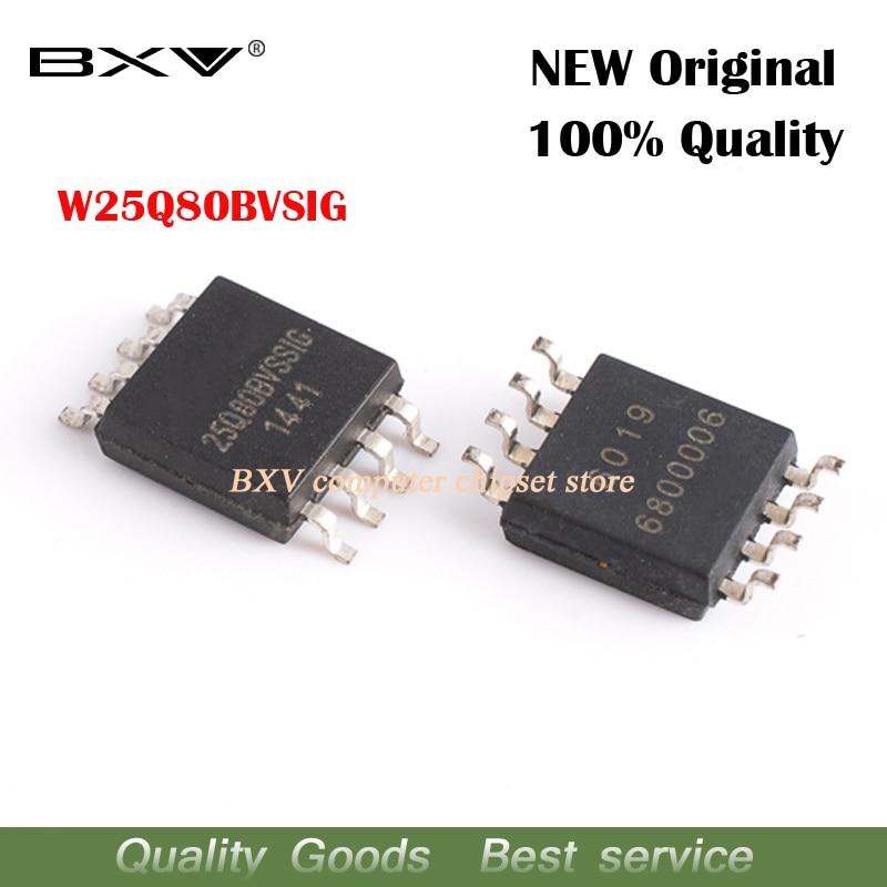 5PCS W25Q80BVSSIG W25Q80BVSIG 25Q80BVSIG W25Q80B FLASH Memory SOP-8 IC