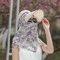 Sombreros de Verano Mujer Sombrero para el Sol Los Rayos Ultravioleta Defensa Deporte Al Aire Libre Plegable Cubierta Cara Aleros Playa de Arena de Protección Solar