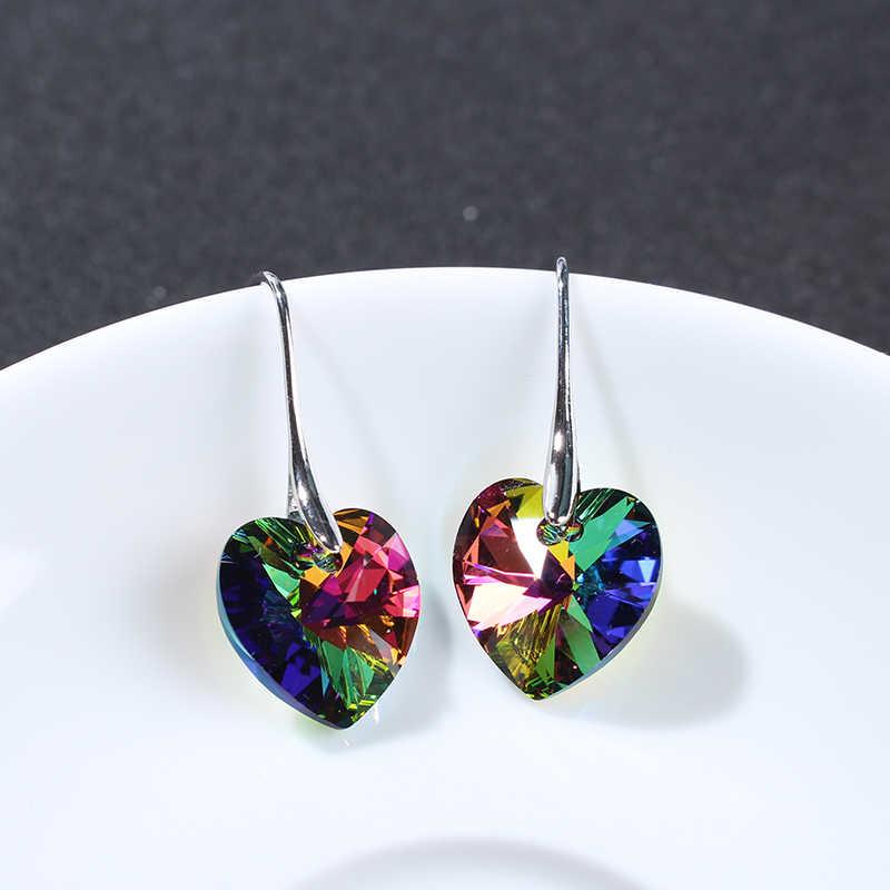 3f7f5f9cd ... BeBella crystal heart drop earrings pendant eardrop with Crystals from  Swarovski crystal fashion jewelry for women ...