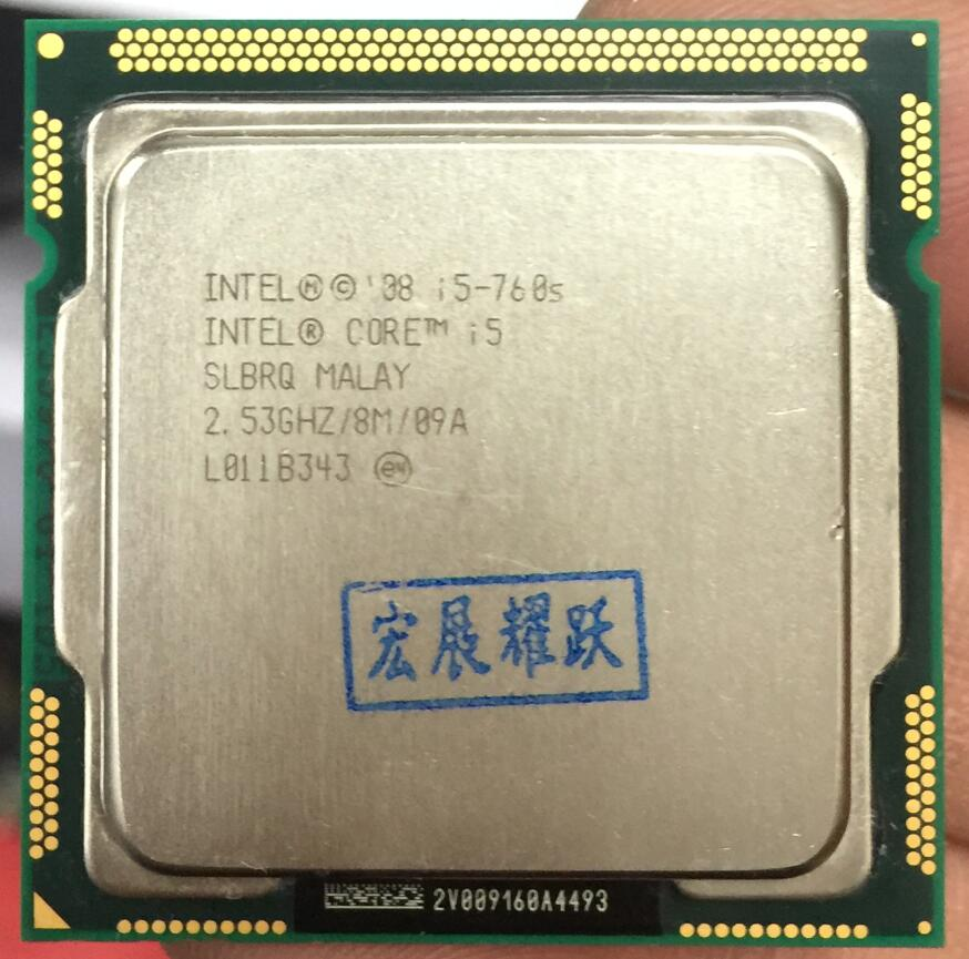 Intel Core I5-760S Processor (8M Cache, 2.53 GHz) 82W  LGA1156 Desktop CPU 100% Working Properly Desktop Processor