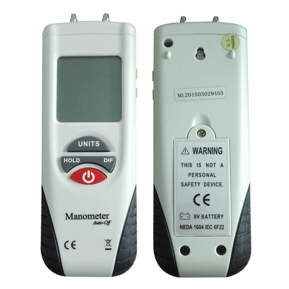 2017 Brand New HT-1890 Large LCD Screen Display High performance Digital Manometer Handheld Air Pressure Meter White & Black high performance new air flow meter map sensor for toyota 1jzgte jzx100 supra ls400 22250 50060 2225050060 197400 0050