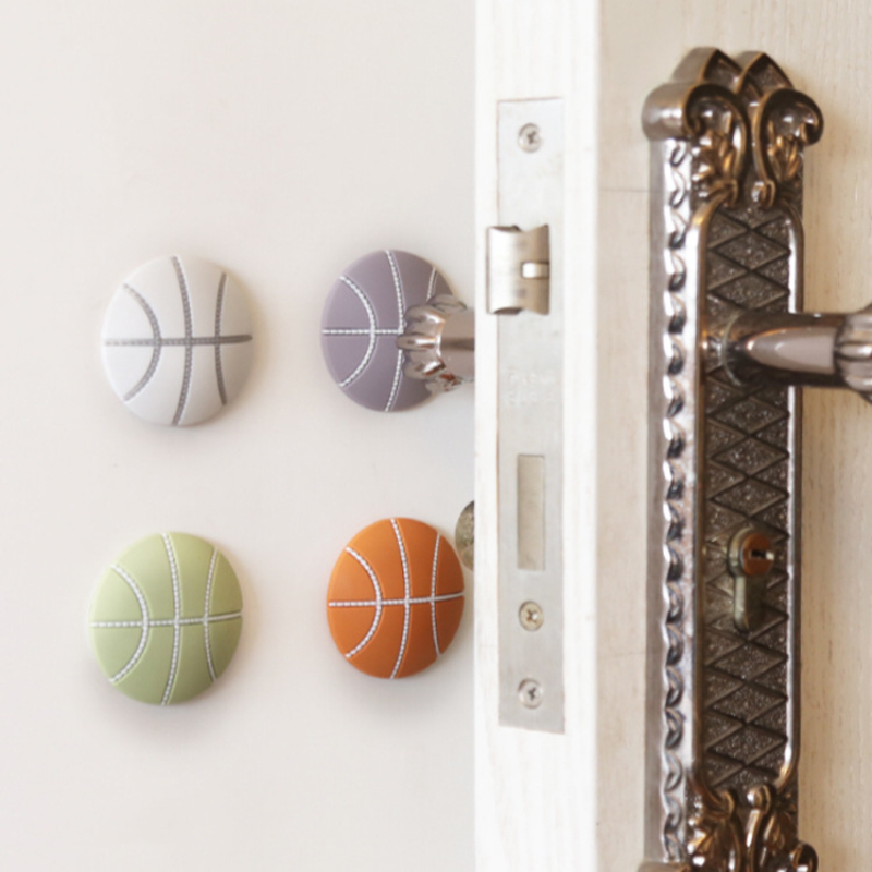 NEW Wall Thickening Mute Door Stick Golf Styling Rubber Fender Handle Door Lock Protective Pad Protection Home Wall Stickers