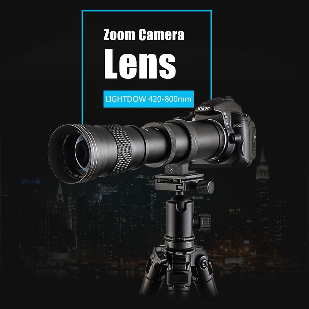 Mcoplus Super téléobjectif Zoom manuel objectif pour Nikon D7100 D5300 D3100 D3200 D5000 D5100 D5200 420-800mm F8.3-16 DSLR appareil photo