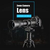 Mcoplus Super Telephoto Lens Manual Zoom Lens for Nikon D7100 D5300 D3100 D3200 D5000 D5100 D5200 420 800mm F8.3 16 DSLR Camera