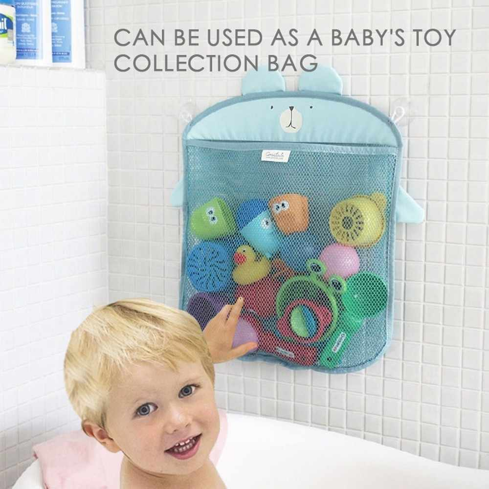 Shower Bath Toy Storage Animal Mesh Duck Frog Bag Organizer With Strong Suction Cup Toy Holder Bag Net Bathroom Organizer K20